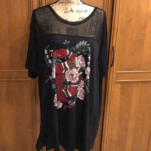 Torrid snake blouse black